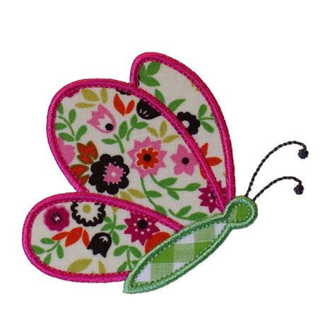 Free Applique Design by Butterfly Flying By Appliques Machine Embroidery Designs