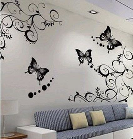 art wall decor cool and beauty with flower bedroom wall cute butterfly and beautiful flowers wallpapers stickers