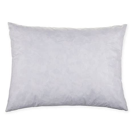 feather pillows bed bath and beyond myop oblong throw pillow feather insert in white bed