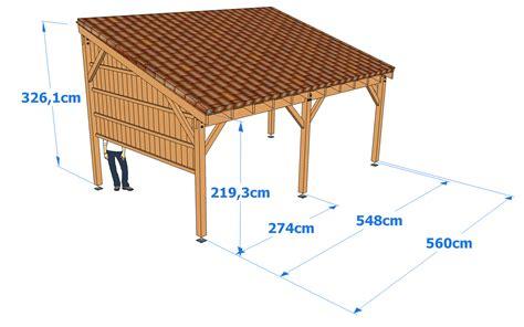 Carport Measurements dimensions g 233 n 233 rales du carport guide de construction des carport abri voiture et pr 201 au