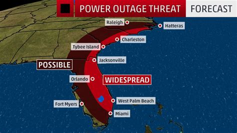Florida Power And Light Outage by Hurricane Matthew Could Knock Out Substantial Portions Of