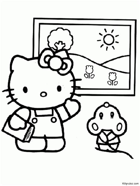 easy hello kitty coloring pages easy to draw hello kitty coloring home