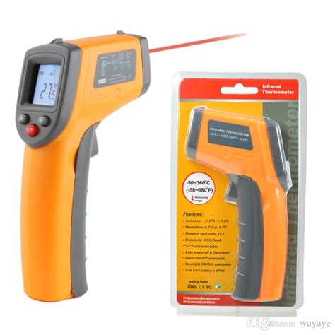 New Laser Infrared Meter 0 05 50 M Pro Limited Edition Wat Murah 2017 laser lcd display digital ir infrared thermometer auto temperature meter gun non contact