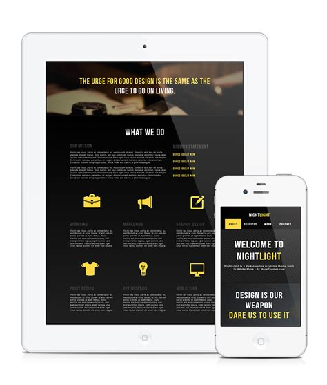 nightlight parallax muse template by musethemes