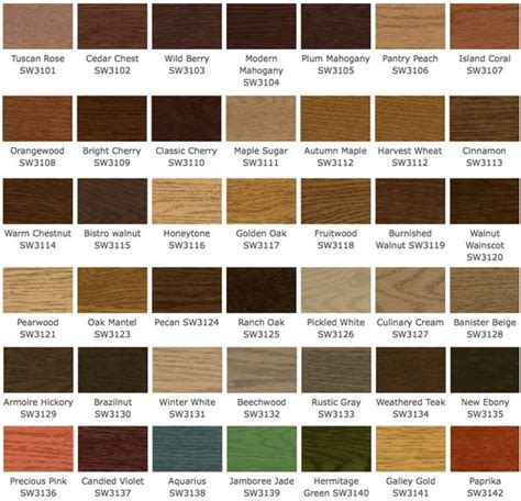 wood furniture colors chart deck wood stain colors olympic solid wood stain colors