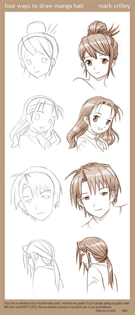 manga hairstyles book 4 ways to draw manga hair by markcrilley on deviantart