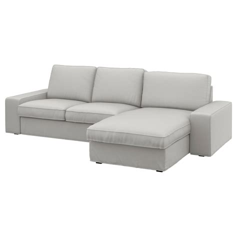 kivik 2 seat sofa kivik two seat sofa and chaise longue ramna light grey ikea