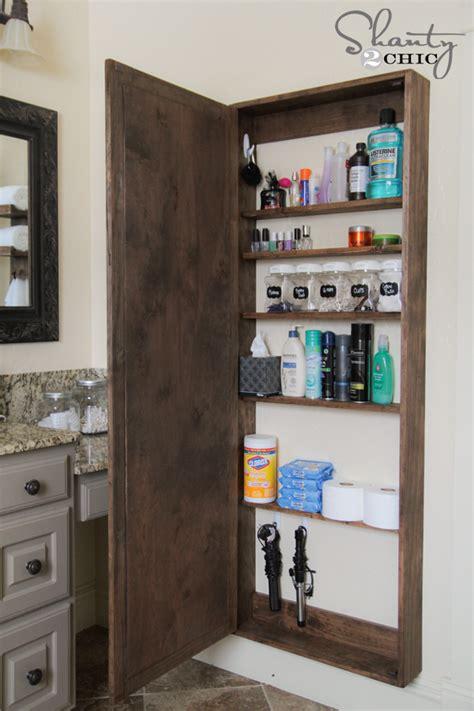 bathroom mirror with storage diy bathroom mirror storage shanty 2 chic