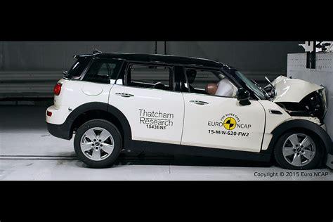 crash test mini mini clubman f54 gets 4 in ncap crash test