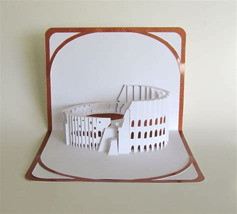 the colosseum pop up 3d card 3d cards the