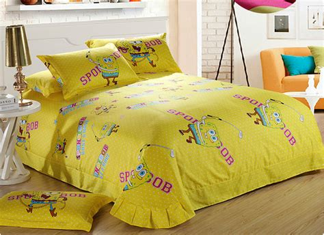 Bedcover Set Spongebob 3d spongebob reactive print 3d bedding set quilt cover bed sheet 3d bedding set buy 3d beddign