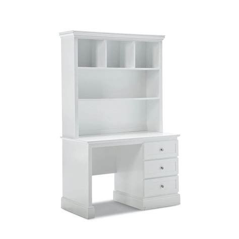 White Desk With Hutch And Drawers 3 Drawer Desk Hutch White Smooth Finish Buy Desks