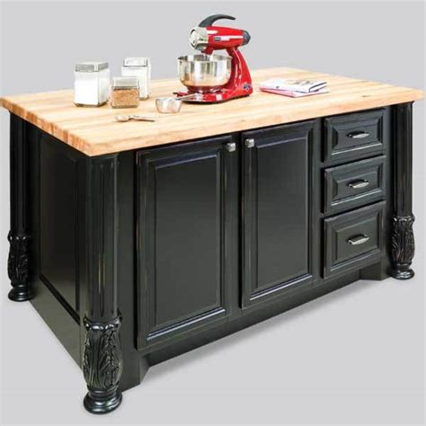 distressed black kitchen island hardware resources shop isl05 dbk kitchen island distressed black jeffrey
