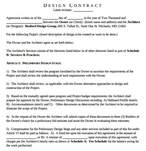 Contract Winning Letter Sle Interior Design Template 15 Free Documents In Pdf Word