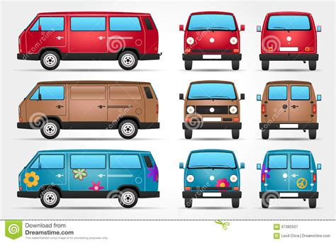 cartoon car back vector travel car front back view vector