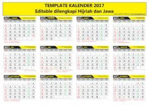 template kalender 2017 vector ai eps cdr editable fonts