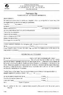 Scout Permission Slip Template by Fill Any Pdf Free Forms For Permission Page 1