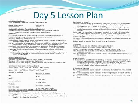 A Place Lesson Plan Evidence Of Student Learning Eosl Fall Ppt
