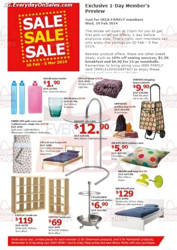 upcoming ikea sales 20 feb 5 mar 2014 ikea singapore sale for furniture