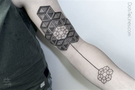 tattoo 3d lines innovative geometric tattoo inspiration