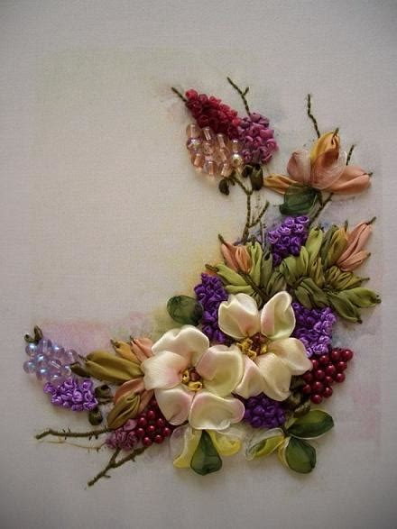 flower design with ribbon silk ribbon flower embroidery designs for beginners life