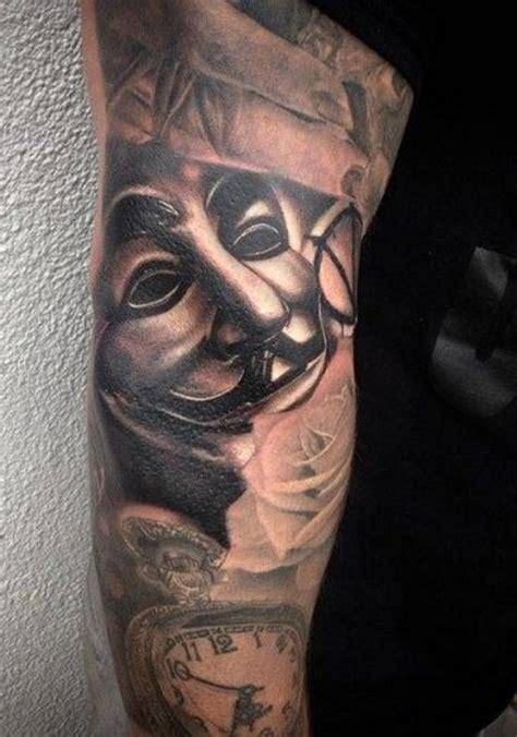 guy fawkes tatuaże dla mężczyzn