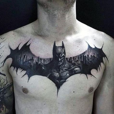 cool batman tattoos design ideas with symbol