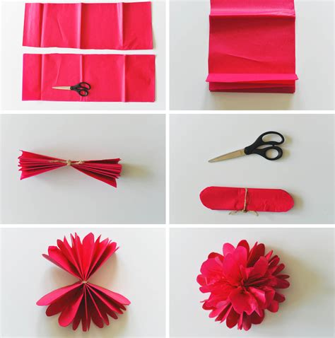 Handmade Flowers From Tissue Paper - diy tissue paper flower backdrop
