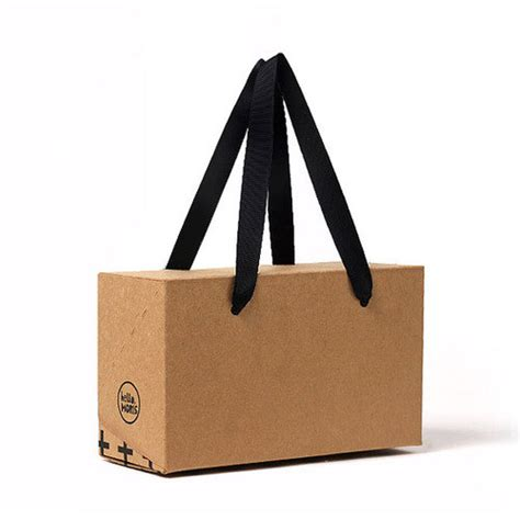 Paperbag Craft Ukuran 27 13 15 3 x kraft box bags paper box bag small or medium size brown boxes box with handle