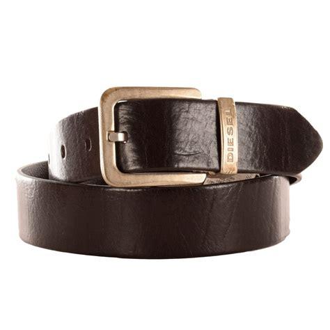 diesel diesel begles brown black leather belt