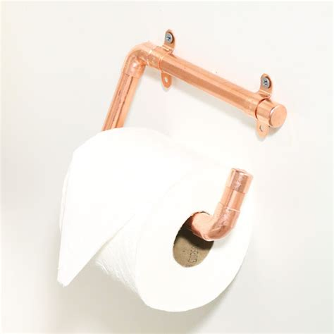 toilet paper holder diy stylish diy copper toilet paper holders shelterness
