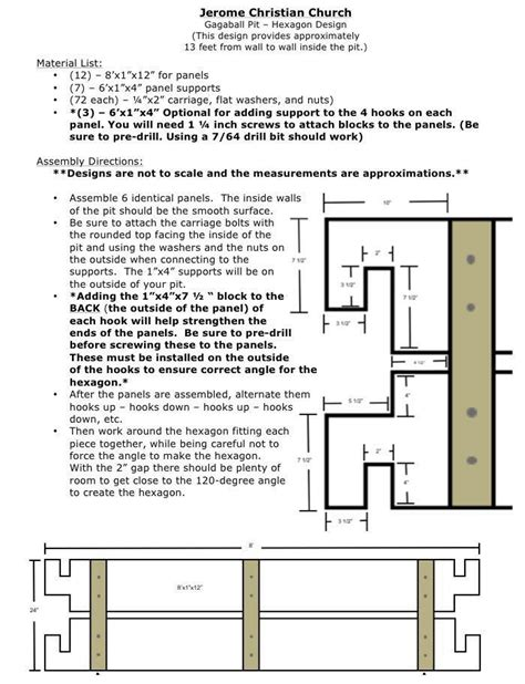 Pit Plans Ministry2youth Our Portable Indoor Gaga Pit