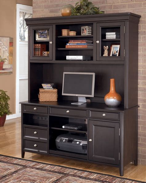 Hutch Website Carlyle Large Office Credenza W Large Hutch H371