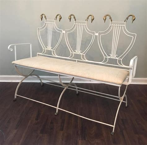 waterbury wrought iron bench with no back rest soapp culture