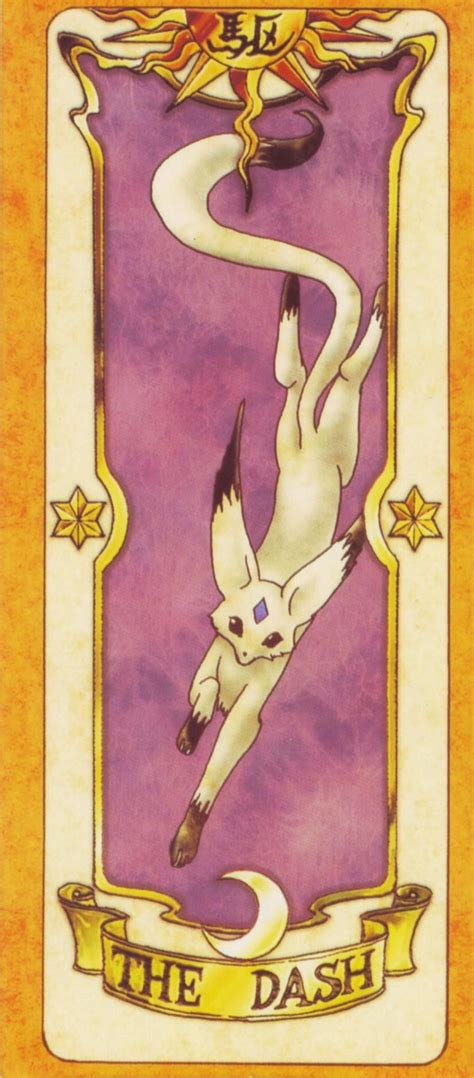 Pin Cardcaptor Clow Card clow cards cardcaptor dash card this was the episode i watched i even owned