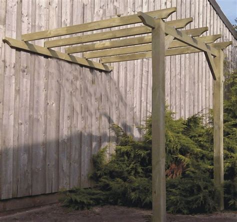 3 6m x 3 1m lean to pergola gazebo kit with 95mm posts