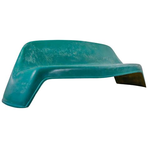 fiberglass bench walter papst fiberglass outdoor pool or garden bench germany 1950s for sale at 1stdibs