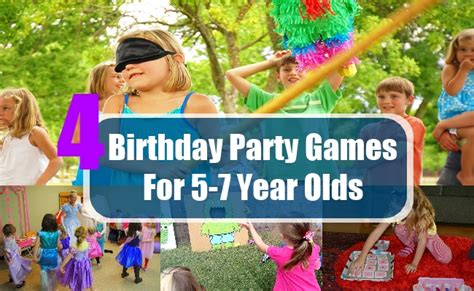party themes 5 year old birthday party games for 5 7 year olds birthday game