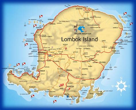How Big Is 400 Square Meters by Lombok Maps Www Losalinktour Com