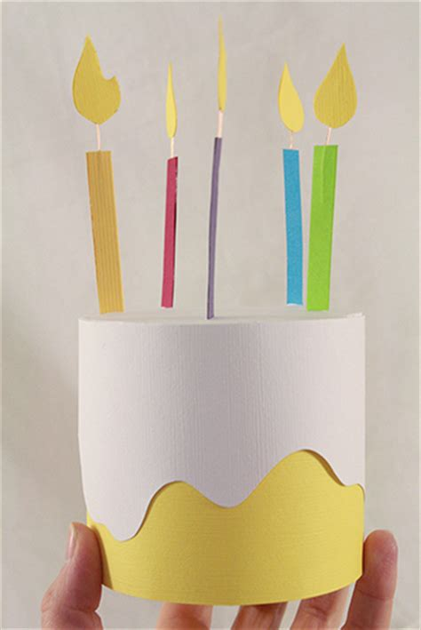 Birthday Paper Crafts - paper birthday cake box family crafts