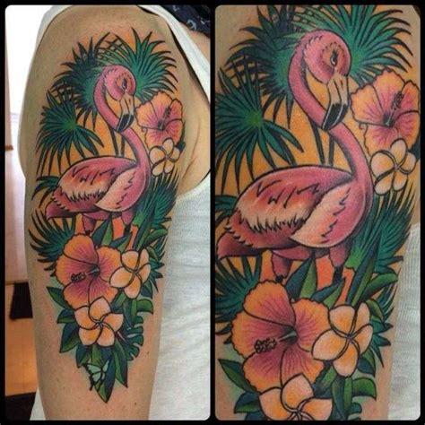 tatuaggi fiori tropicali tatuaggi fenicotteri foto 36 42 stylosophy