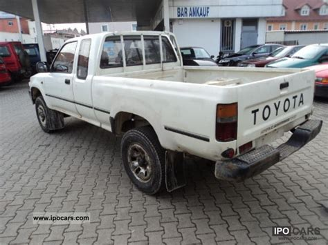 1992 Toyota Specs 1992 Toyota Hilux 4x4 Car Photo And Specs
