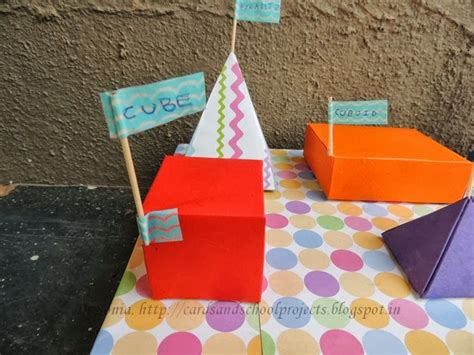How To Make Solid Shapes With Paper - cards crafts projects how to make a pyramid