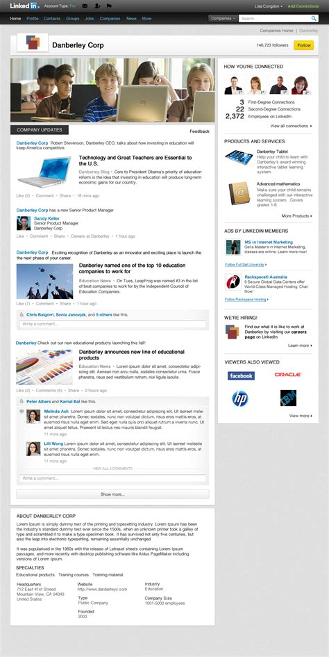 How To Find Looking For On Linkedin Introducing A New Look For Company Pages Official Linkedin