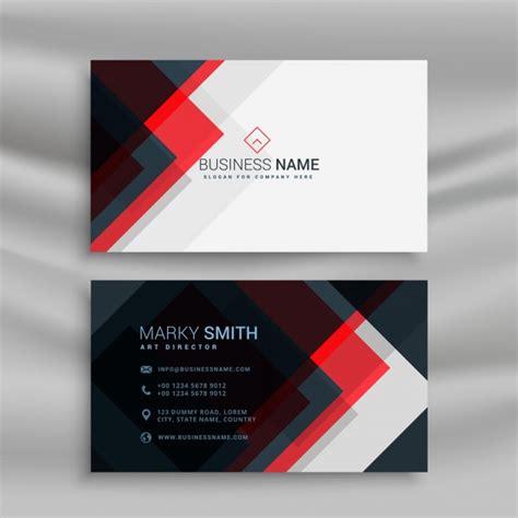Mit Business Card Template by Vektor Rot Und Schwarz Kreative Visitenkarte Template