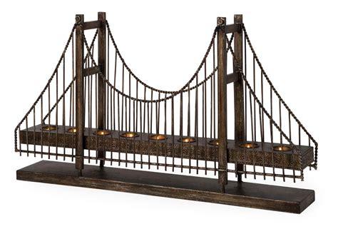 suspension decorative imax decor suspension bridge candle holder artwork