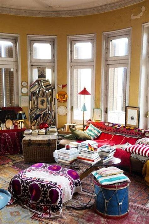 colours for home interiors стиль бохо творческий беспорядок и стекло в интерьере
