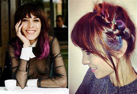 celebrity natural hair colors celebs who dye their locks pictures rainbow colored hair dye celebrities photos women hairstyles