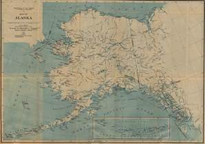 us map w alaska maps of alaska with cities and towns