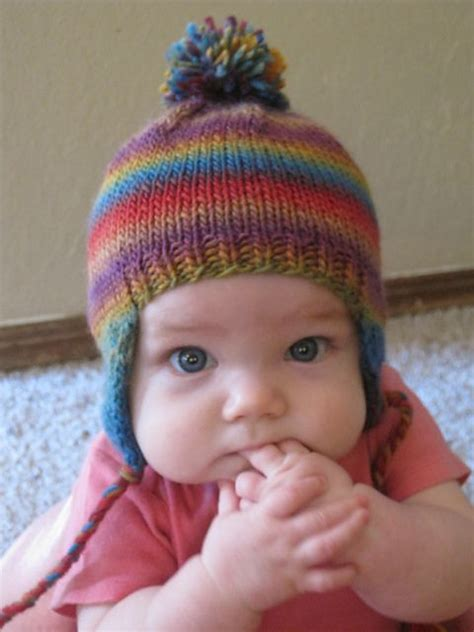 knitting pattern earflap hats for toddlers ravelry free babee chullo baby earflap hat pattern by